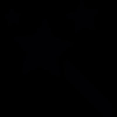 Magic stick with stars vector logo