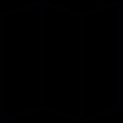 triple folded paper vector logo