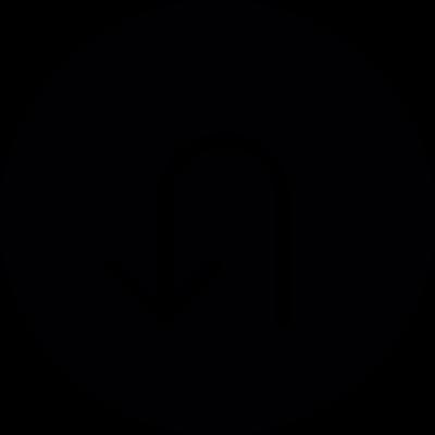 Reversed rotating arrow vector logo
