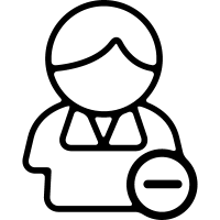 Minus sign on contact symbol vector