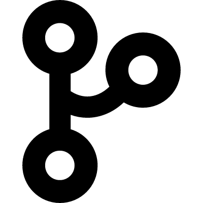 Three circles outlines connected by lines vector logo