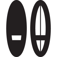 Two Surfing Boards vector