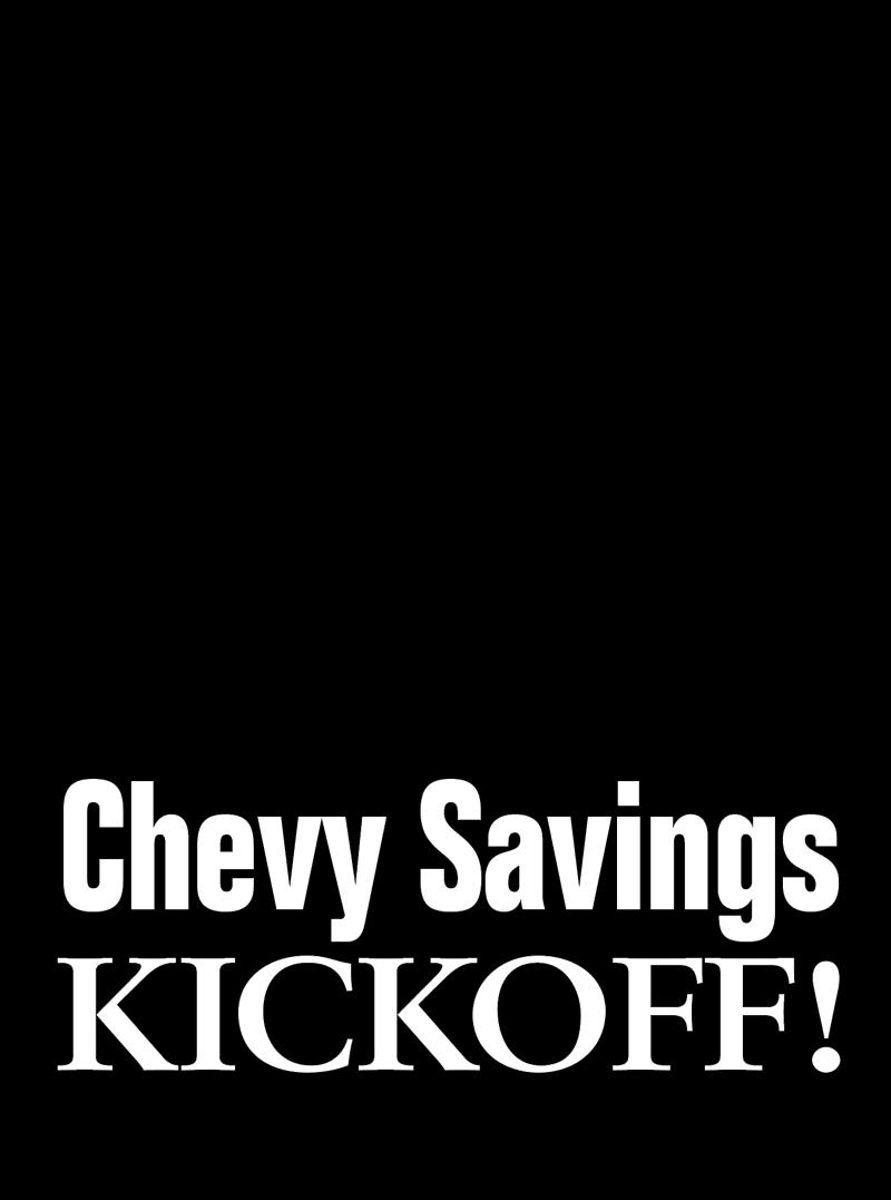 Chevrolet Savings Kickoff vector logo