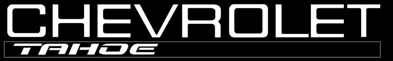 Chevrolet Tahoe logo vector