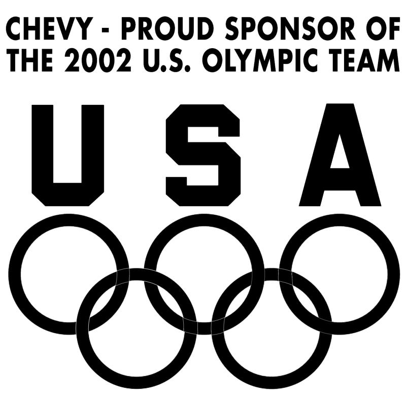 Chevy Sponsor of Olympic Team vector logo