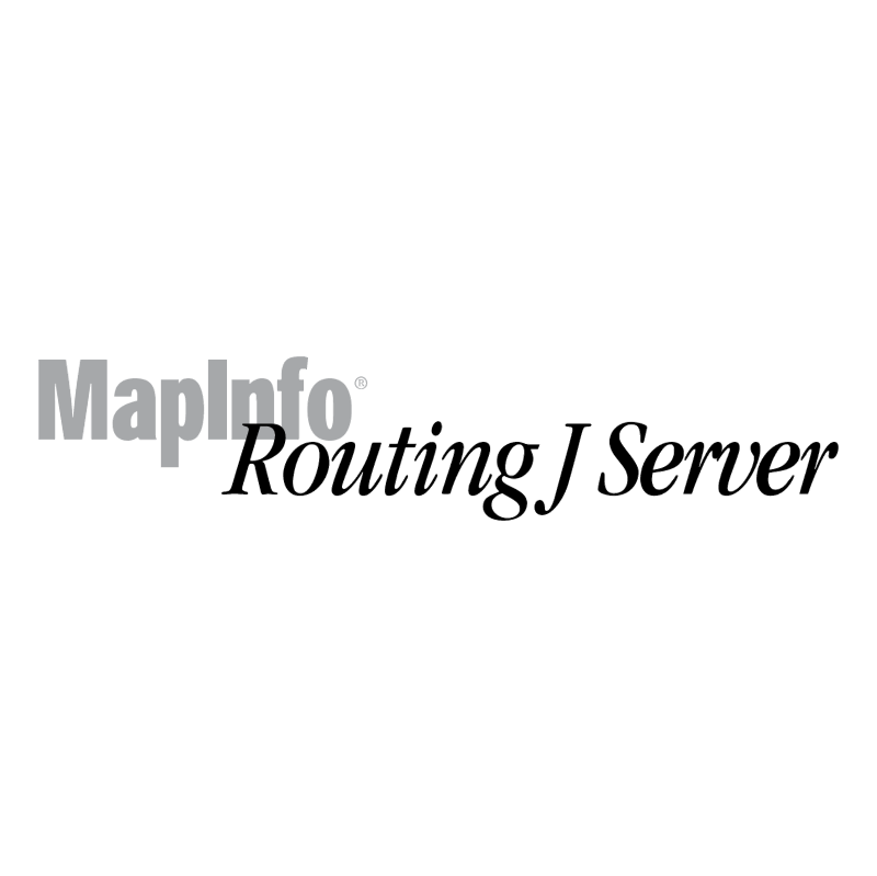 MapInfo Routing J Server vector