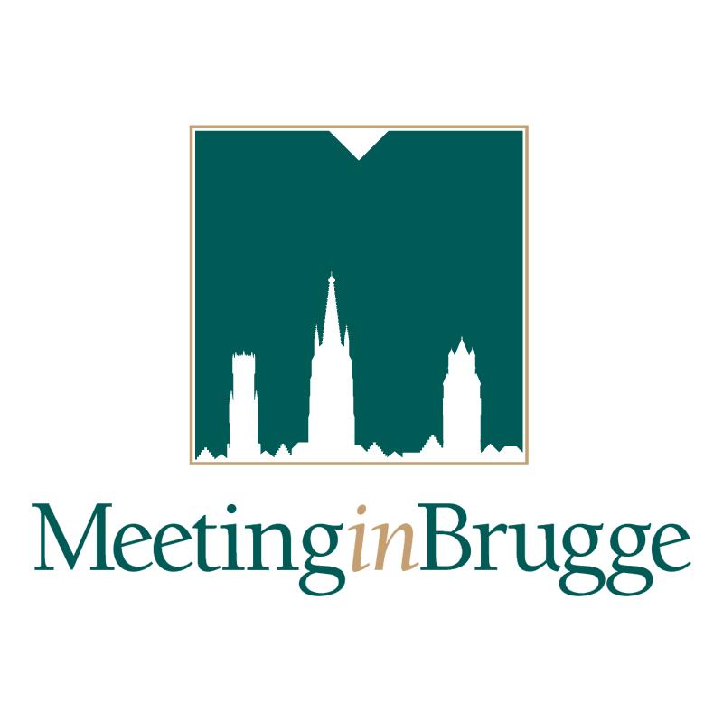 Meeting in Brugge vector