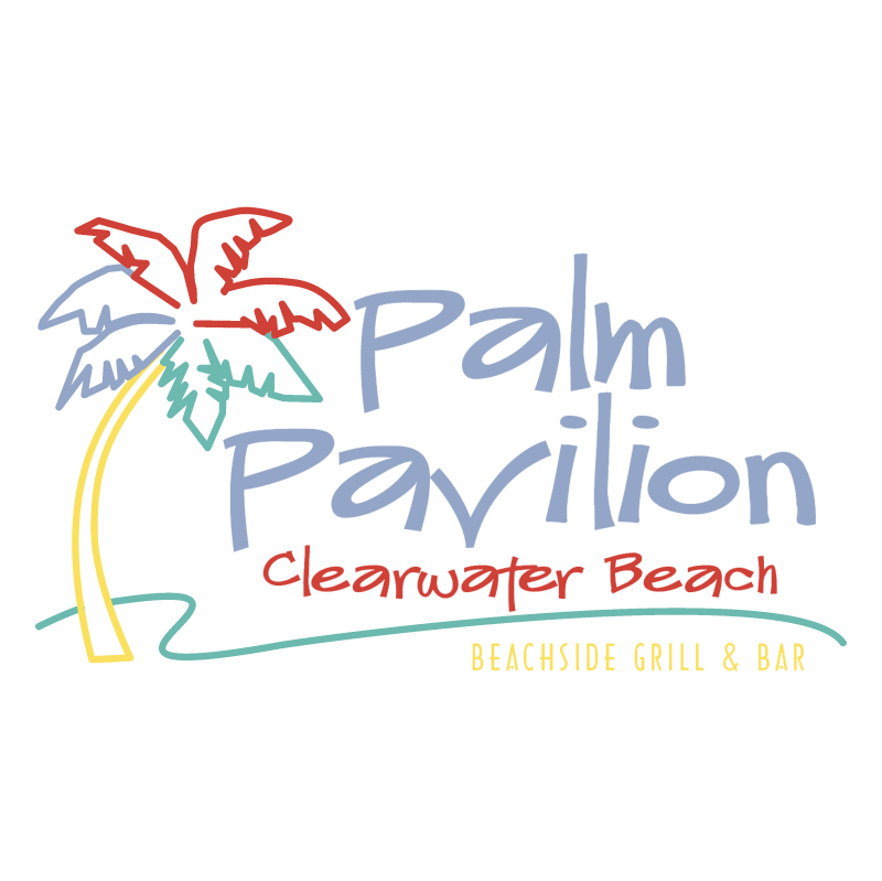 Palm Pavilion Clearwater Beach vector