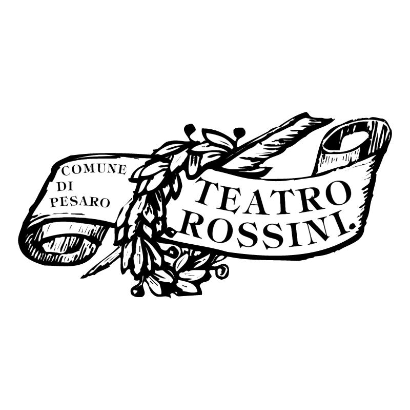 Teatro Rossini Pesaro vector