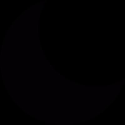 Last quarte phase of moon vector logo