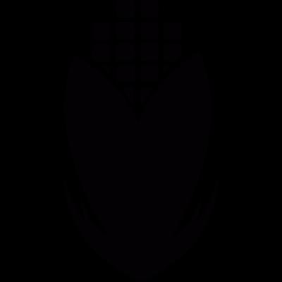 Geometrical corn cob vector logo