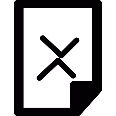 Delete file vector logo