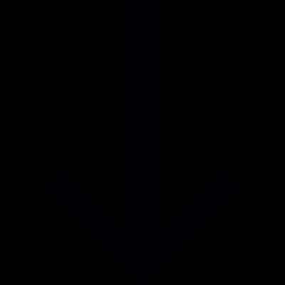 Down arrow direction vector logo