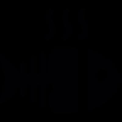 Hot fish bone vector logo