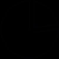 Pie graph with pie slice vector