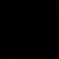Lock key outline vector
