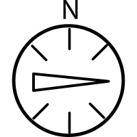 East, IOS 7 interface symbol vector