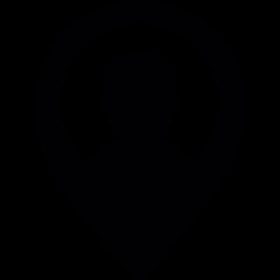 User location mark vector logo