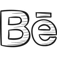 Behance Draw Logo vector