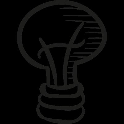 Draw Light Bulb vector logo