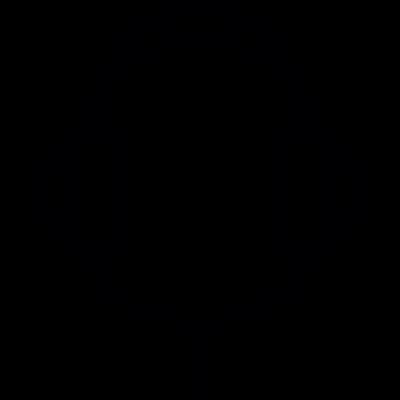 Headphones with wire vector logo