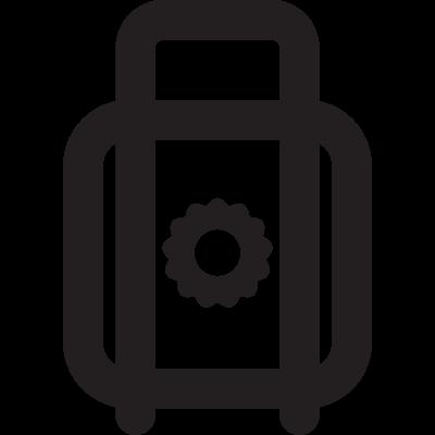 Padlock with Sun vector logo