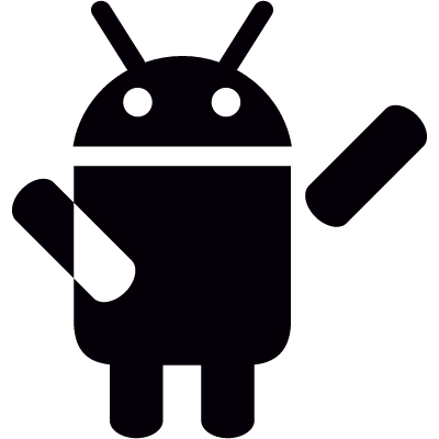 Android with Arm Up vector logo