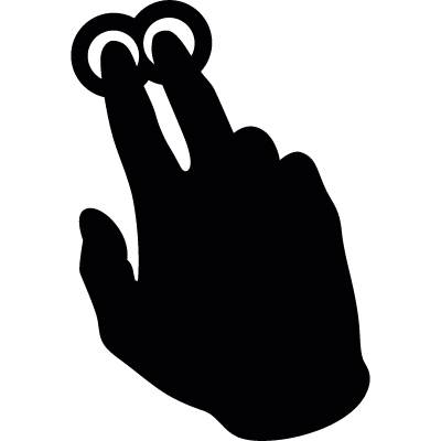 Two fingers pressure vector logo
