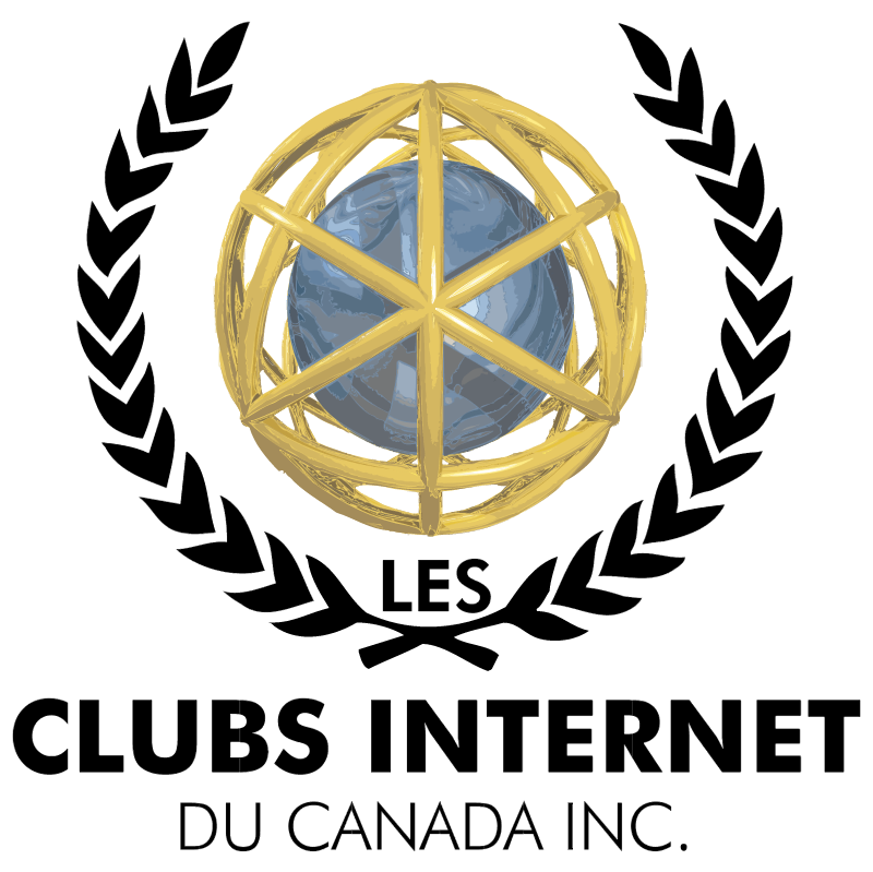 Clubs Internet Du Canada vector