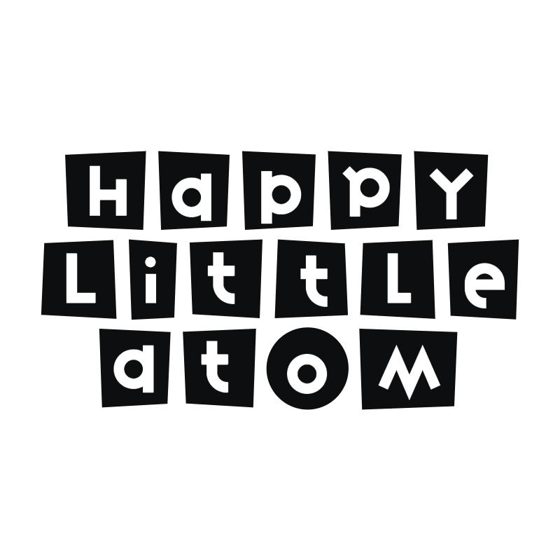Happy Little Atom vector