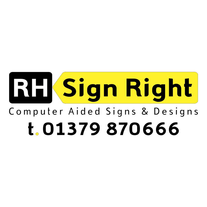 RH Sign Right vector