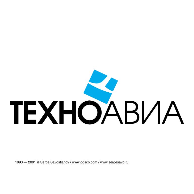 TechnoAvia vector logo