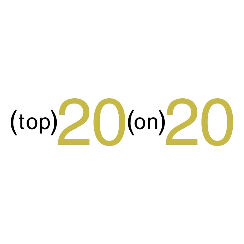 Top 20 on 20 vector logo