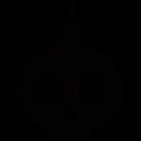 Skull lamp vector