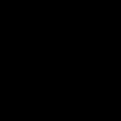 Bank credit card vector logo