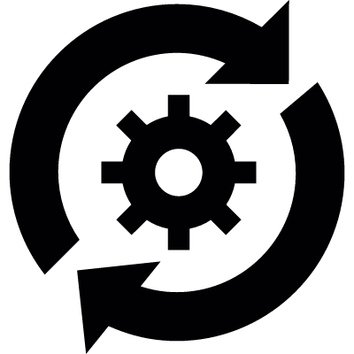 Conversion settings vector logo
