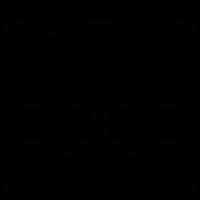 Black paper calendar with spring vector
