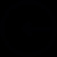 Left Arrow in Circle vector