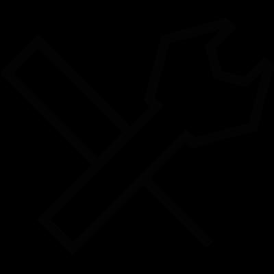 Small settings button vector logo