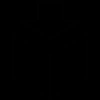 Down Arrow on a cube vector