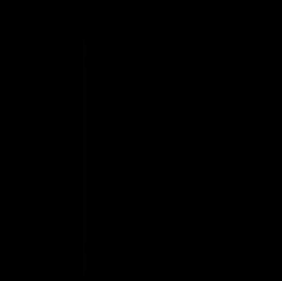 Tablet, IOS 7 symbol vector logo