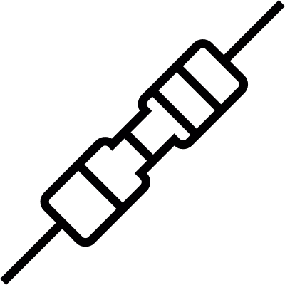 Resistor, IOS 7 interface symbol vector logo