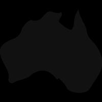 Australia black country map shape vector