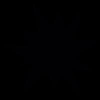 Star of black irregular shape vector