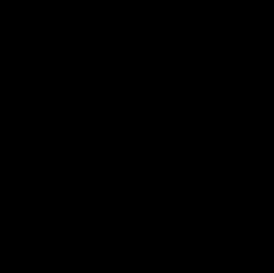 Scissors cutting on broken line vector logo