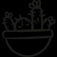 Cactus Pot vector