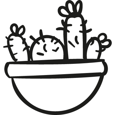 Cactus Pot vector logo