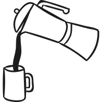 Pouring Coffe vector