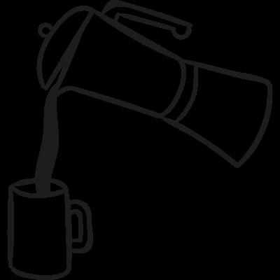 Pouring Coffe vector logo