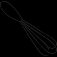 Manual mixer doodle vector